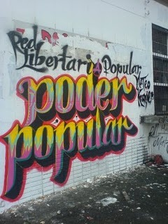 mentenfuego:  Mural by the RLPMK (Red Libertaria Popular Mateo Kramer) in Bogota that reads:  Mateo Kramer Popular Libertarian* Network - PEOPLE POWER *Libertarian in a South American/Spanish language context has a complete different meaning as to what it does in English. It's pretty much another word for Anarchist…
