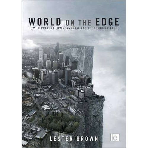"Big Ideas: Lester Brown's new book 'World on the Edge' (Free Download)  I first learned about Lester Brown a couple of years ago when I read his solutions-oriented book Plan B 4.0: Mobilizing to Save Civilization. Turns out he's one of the legends of the American environmental movement, helped develop the concept of sustainable development in the 1970s and founded both the Worldwatch Institute and theEarth Policy Institute. He has also written or co-written upwards of 50 environmentally themed books, in addition to countless articles for journals and magazines.  Described by the Washington Post as ""one of the world's most influential thinkers"" Brown has a new book outwith a title that doesn't hide from the challenges before us. According to the blurb on its website 'World on the Edge: How to Prevent Environmental and Economic Collapse' explains that:  We are facing issues of near-overwhelming complexity and unprecedented urgency. Our challenge is to think globally and develop policies to counteract environmental decline and economic collapse. The question is: Can we change direction before we go over the edge?  If you're interested in reading ityou can buy a hard copy or download the book as a free PDF! Its website also has downloadable datasets, a fact sheet and a great PowerPoint presentation on the global food situation. Powerful stuff!"