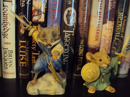 "When I was very young, my father began to read the Redwall series to me.  Chapter by chapter, night by night, we worked our way through them, delighting in the stories and the brave characters.  When I was older, I began to read them for myself, and the magic of the stories was still as strong as ever.  I still buy the newest addition to the series every year, and have a full shelf dedicated to them in my personal library. Brian Jacques was one of my earliest heroes, the type of brilliant author who made me a reader, who made me want to write too.  One of the best days of my young life was the day that my parents let me skip school (!) to go see him at a book signing near Washington, DC.  Listening to him laugh and talk and spin yarns was a revelation, and shyly telling him how much I loved his work while he signed my copy of The Legend of Luke was enough to make my heart race. I asked him how I could be a better writer, too, and he smiled and told me to remember to always ""paint a picture with my words."" I'm so sad that there won't be a new Redwall to add to my collection any more, but so grateful that I got to meet him and got to read so many of his wonderful tales."