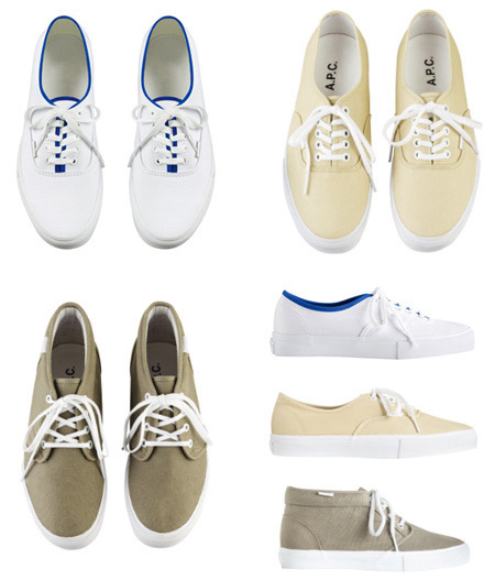 whoistoley:  A.P.C x Vans Capsule Collection. The chukka boots are sooo dope. I'm gonna have to go back to the vans for this one.