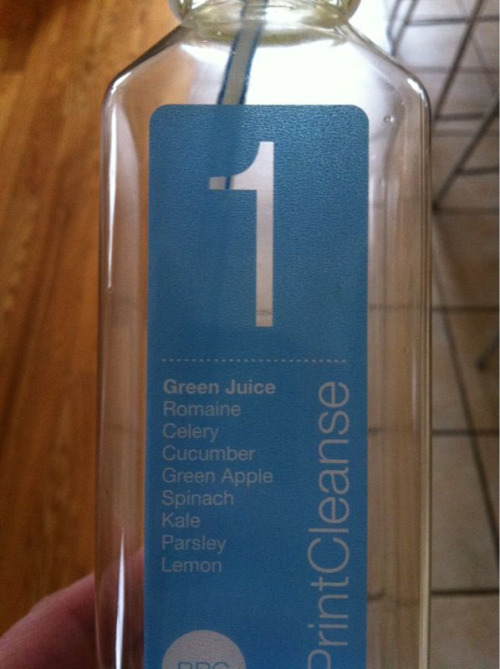 Day 1, juice 1 of my 3 day cleanse.  Routine detoxing and cleansing of the system is important for optimal mind, body & spirit performance.
