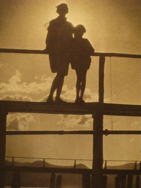 Ethel and Barbara on the Pier, Lake Tahoe, 1930 by  Karl Struss