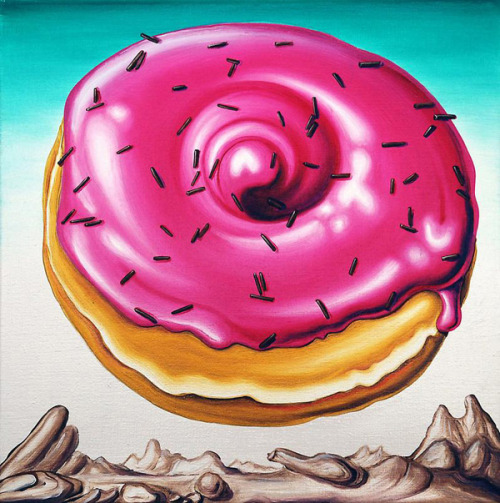 Kenny Scharf's Delectable Donut Paintings
