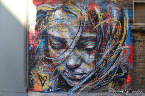 "banksystreetart:  David Walker: ""I am drawn towards the idea of making something beautiful out of what could be classed as lo-brow materials and methods. I don't use brushes because I want the pieces to raise a question about graffiti and traditional painting as there can be strong preconceived ideas about both"". Read the full interview and see more David Walker work on Street Art London here."