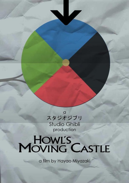 minimalmovieposters:  Howl's Moving Castle by Craig McKeown
