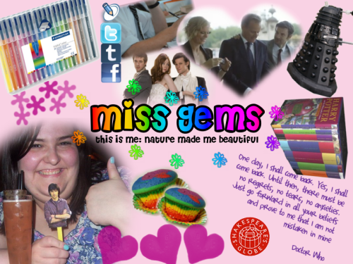 "missgems:  My ""This is me"" collage for blogger challenge 1 at Naturemadeusbeautiful Image credits: 1 2 3 4 5 6"