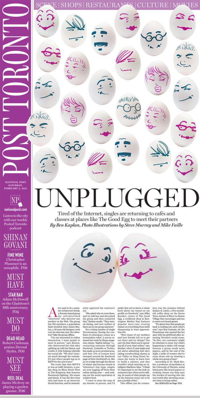 Unplugged: Tired of the Internet, singles are returning to cafés and classes at places like The Good Egg to meet their partners. Did you meet in a café? We've got so many amazing stories/images pouring in for our Valentine's Day #HowWeMet project! Please keep them coming! Check out our full visual archive and, if you like what we do, please recommend us in the news directory.