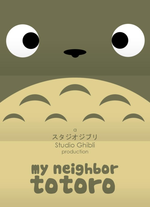 minimalmovieposters:  My Neighbor Totoro by Craig McKeown