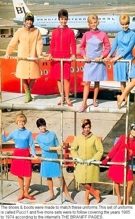 Emilo Pucci for Stewardesses 1965