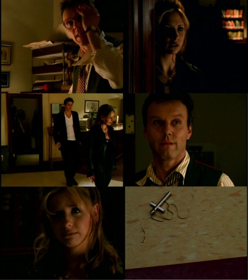 Buffy: They say how he's gonna kill me? Do you think it'll hurt..? Don't touch me! Were you even gonna tell me?Giles: I was hoping that I wouldn't have to. That there was… some way around it. I…Buffy: I've got a way around it. I quit!Angel: It's not that simple.Buffy: I'm making it that simple! I quit! I resign, I-I'm fired, you can find someone else to stop the Master from taking over!Giles: I'm not sure that anyone else can. All the… the signs indicate…Buffy: The signs? READ ME THE SIGNS! TELL ME MY FORTUNE! YOU'RE  SO USEFUL SITTING HERE WITH ALL YOUR BOOKS! YOU'RE REALLY A LOT OF HELP!Giles: No, I don't suppose I am.Angel: I know this is hard.Buffy: What do you know about this? You're never gonna die!Angel: You think I want anything to happen to you? Do you think I could stand it? We just got to figure out a way…Buffy: I already did. I quit, remember? Pay attention!Giles: Buffy, if the Master rises…Buffy: I don't care! I don't care. Giles, I'm sixteen years old. I don't wanna die.  Buffy the Vampire Slayer, 1.12, 'Prophecy Girl'