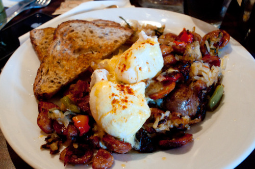 Mexican Hash $14with poached eggs and chorizo Brooklyn Label180 Franklin StreetBrooklyn, NY 11222 8/10
