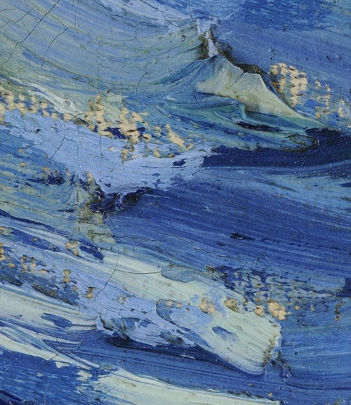 lukescommonplacebook:  closeup of Van Gogh's Starry Night from the Art Project by Google, via