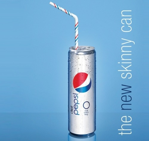 "thedailywhat:  Re-Design of the Day: PepsiCo is set to unveil a ""taller, sassier new Skinny Can"" for its  Diet Pepsi brand, which a press release says is meant as a ""celebration  of beautiful, confident women."" The can will officially launch at  New York's fashion week this Fall. ""Our slim, attractive new can is the  perfect complement to today's most stylish looks,"" Pepsi CMO Jill Beraud  is quoted as saying. A Pepsi spokewoman confirmed that the  ""traditional short and fat"" can model will still be available — you  know, for consumers who aren't into the whole sassy celebration of  skinny women. [cnn / image: co.design.]  Everyone knows the way to celebrate women is by perpetuating unreasonable body image standards!  Great job, Pepsi."