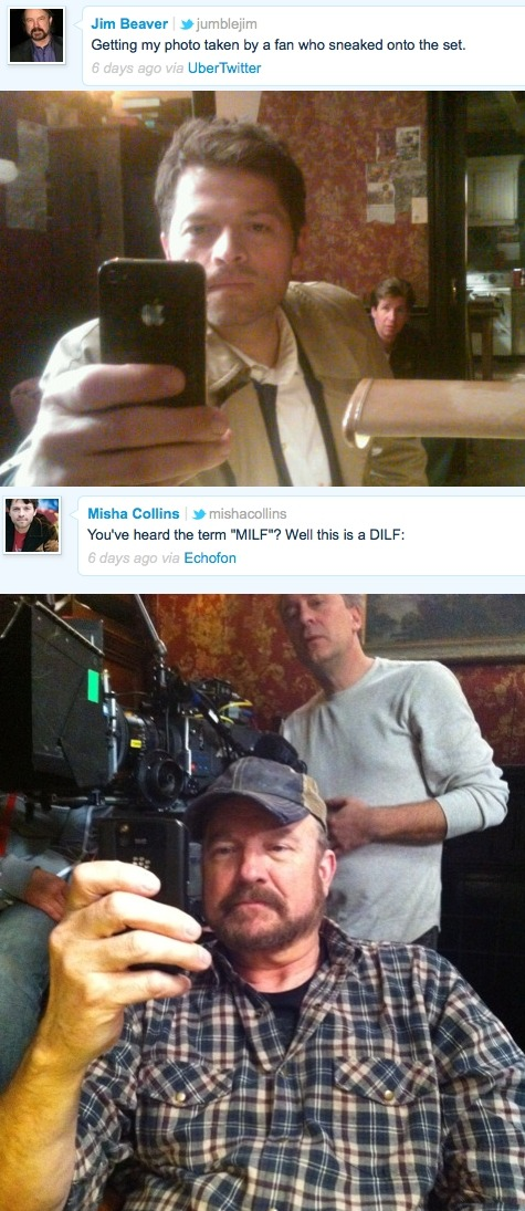 fyeahmishacollins:  Misha and Jim trolling each other on Twitter, brought to you by Admin One.