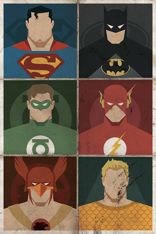 herochan:  Minimalist DC Superhero Poster - by Michael B. Myers Jr. Website || Twitter || Facebook