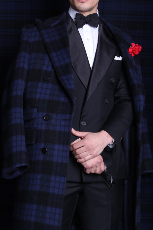 The Cashmere Plaid Overcoat ; The Double Breasted Tuxedo