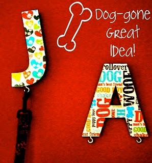 LOVE these cute leash holders for dogs!  Perfect gift for my parents dogs!  ~  Saturday Mornings: How to Make Cute Leash Hangers