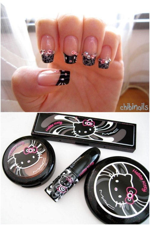 chibinails: M.A.C Hello Kitty inspired nails :)
