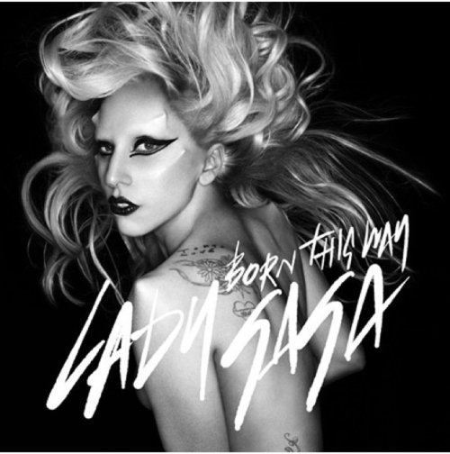 Lady Gaga - Born This Way (Single Cover Art) Based on the photo, taken by British fashion photographer Nick Knight, Gaga  was apparently born with built in '80s-era-sized shoulder pads. Which  could explain all those shazzamity of  outfits she wears, trying to draw attention away  from her pointy little shoulder blades. What?! Am just sayin'!