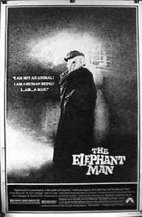 "ELEPHANT MAN (1980)Directed by: David LynchWritten by: Christopher De Vore (screenplay), Eric Bergren (screenplay), David Lynch (screenplay), Frederick Treves (book ""The Elephant Man and Other Reminiscences"") Ashley Montagu (book ""The Elephant Man: A Study in Human Dignity"") This entire film is stunning. But the ending is really perfect, it's so poignant with ""Adagio"" playing in the back. It amazes me how film and music, especially in combination, can be so moving. This is my second favorite final scene of a movie, the first being the end of ""Fight Club"". Favorite Quotes:John Merrick: My life is full because I know I am loved.John Merrick: I am not an elephant! I am not an animal! I am a human being! I am a man!"