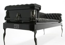 rockgametheorist:  Heretic Sofa by Autumn Made from an 18 gauge steel coffin…Amazing