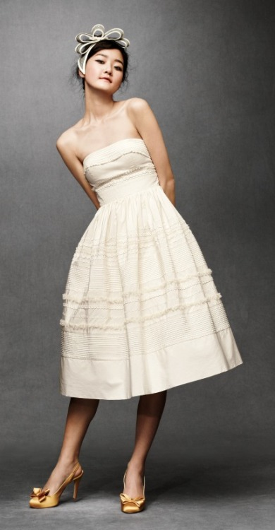 therusticbride:  I almost wish I would have held out on buying a wedding dress until the Anthropologie BHLDN collection was released! I'm sure it will be pricey, though!
