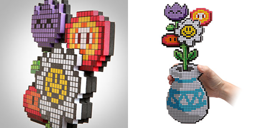 "8-Bit Flowers - $14.99 let's face it - girls like getting flowers.  end of story.  if your guy is one of those jerks that think flowers are a waste of money - maybe now he'd actually consider getting you some.  these flowers are dripping with geeky awesomeness, and they won't die, and they aren't ""a waste of money"" (i don't think fresh flowers are a waste of money… just for the record).  have fun with your subtle hint dropping for valentines day!"