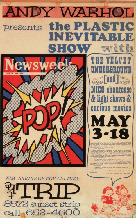 theswingingsixties:  Andy Warhol presents The Plastic Inevitable Show, May 1966/67.
