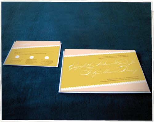 Revamped the Elizabeth + Darcy invitations for the New Year!