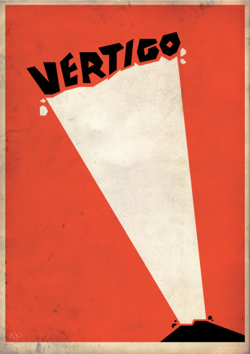 minimalmovieposters:  Vertigo by Adam James (jamesydesign) Anonymous' request  Jeeez this has a fair few notes, it's my fave bit of design i've done in a while :)