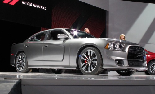 The heart of the 2012 Dodge Charger SRT8 is a new 6.4-liter Hemi V-8. The engine is rated at 465 bhp and 465 lb.-ft. of torque.