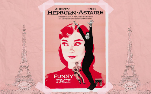 rareaudreyhepburn:  Funny Face wallpaper made by rareaudreyhepburn