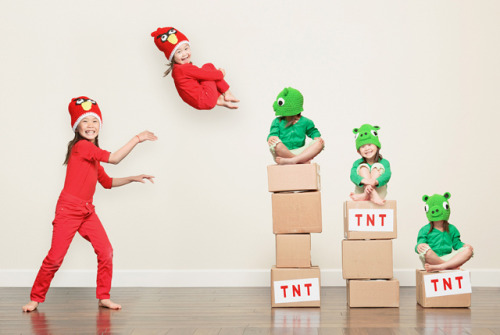 If I had kids, I would definitely turn them into angry birds.