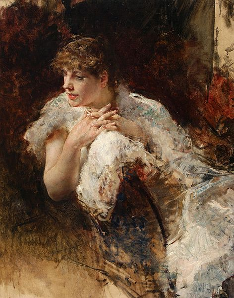 Giuseppe de Nittis - A Lady from Naples
