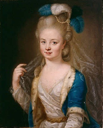 Unknown - Portrait of Amalie of Zweibrücken-Birkenfeld