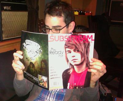 Thanks @Substream for  feat. us this month! Can't tell if @BryanLaurenson is reading or hanging with @TheReadySet
