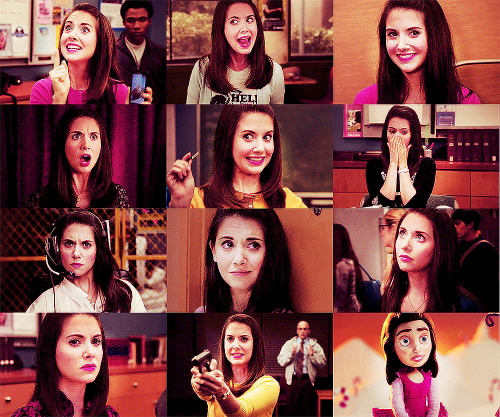 "Current TV characters I love | Annie Edison | Community ""I'm gonna tell you what my mother told me when I wanted to quit cheerleading. 'You're not very pretty, you have no boobs, and you can't do a basket toss to save your life.' But you made a commitment. So pick up your pompoms, Pierce, stuff your bra, and get ready for the team bus to forget you at a Taco Bell, because life is tough. But we soldier on, and that's just the way it goes"""