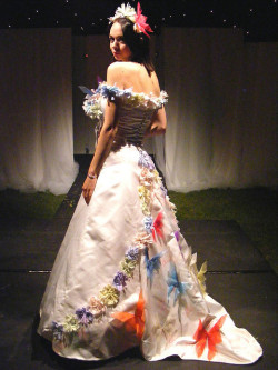 Colorful, Bold Wedding Dress (by Denise)
