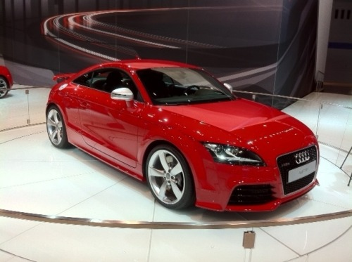 The 2012 Audi TT RS has a 2.5-liter turbocharged  5-cylinder producing  340 bhp. Even more significant the TT RS will  only be offered in the US  with a 6-speed manual. In a  switch, it's only Europeans who can opt  for a DSG version.