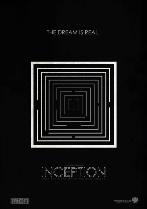 INCEPTION Movie poster 2011 Mario Guilherme. All rights reserved. All trademarks are the property of the respective trademark owners