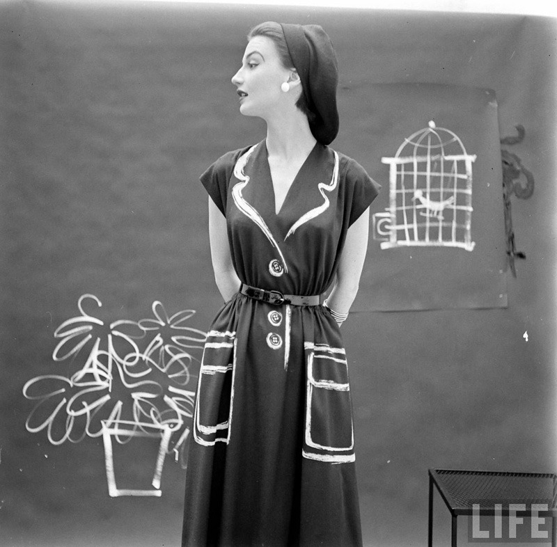 Hermes Dresses, 1952 | Photographer: Gordon Parks (Images via LIFE photo archives)   via Wo and Wé