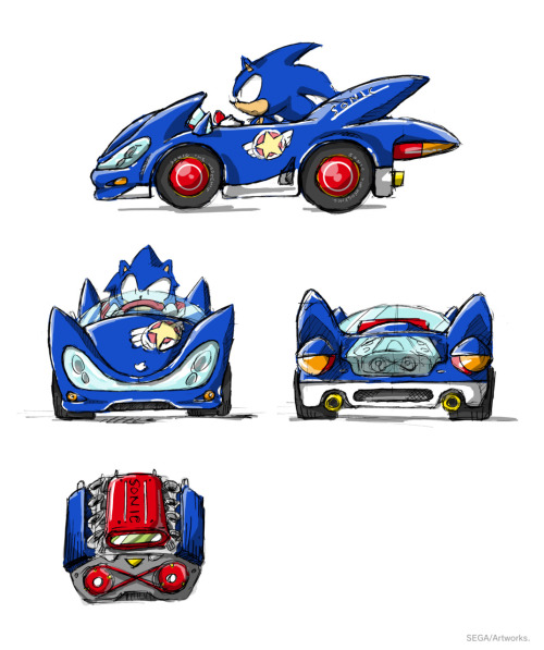 vgjunk:  Concept art for Sonic and Sega All-Star Racing.