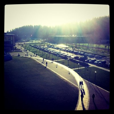South campus from ES bldg (Taken with instagram)