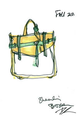 elle:  Reed Krakoff's classic satchel will be revamped for this fall with a pop of color. New York Fashion Week Accessories Exclusive!An exclusive first look at new accessories designs from some of our favorite designers—coming soon to a runway near you.  Photo: Courtesy of the designer