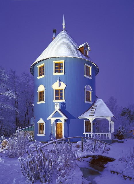 sunsurfer:  Blue House, Moominworld, Finland  photo via theboatmansdaughter