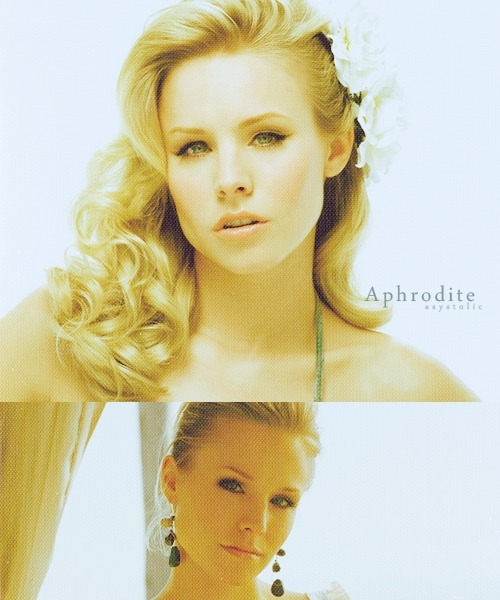 asystolic:  Immortals | Kristen Bell | Aphrodite   Goddess of love, beauty and desire   gorgeous