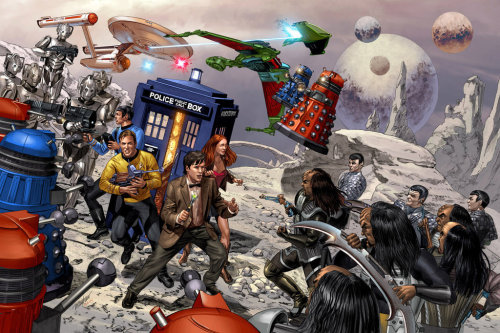 Star Trek vs Doctor Who! What's not to like?