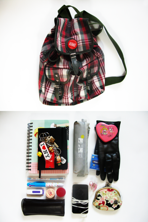 Things I usually carry when I don't have school C: