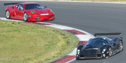 Ferrari F430GT and P4/5 Competizione. The P4/5 is actually built from an F430.