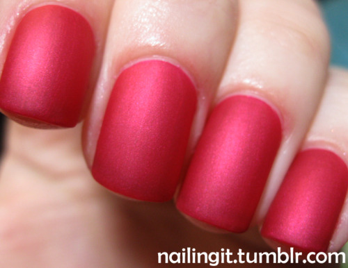 china glaze - sexy silhouetteessie - matte about you mr. nailingit suggested i matte-i-fy this color, twas an excellent idea. matte hot pink wooooooooooooooooooooo!